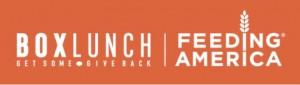 BoxLunch and Feeding America Logos