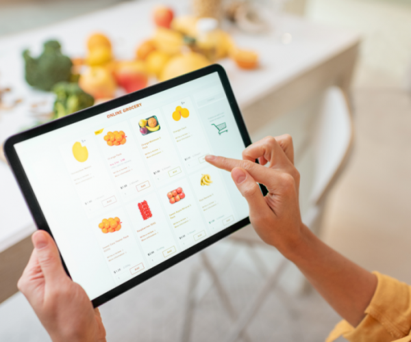 Online food shopping image